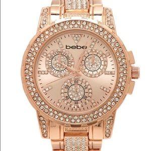 BEBE rose gold watch